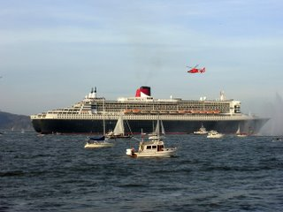 QM2 boats! boats! and Coast Guard helicopter
